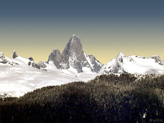 Devils Thumb on the USA Mainland (Gillfoto) Tags: devilsthumb petersburg alaska mountain southeastalaska alaskapanhandle insidepassage peak rock shear climb straightup