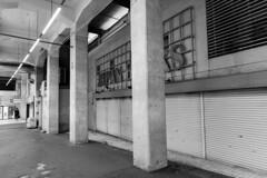 closed bookstore (Hideki-I) Tags: 2470 nikon d850 motomachi kobe japan bw blackandwhite 白黒 黑白 bookstore closed