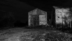 Rimesse agricole (Luomo di Monaco) Tags: notte campagna bw d3400 nikon