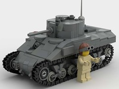 M4 sherman 1:45 scale (SirLuftwaffles) Tags: ww2 lego luftwaffles m4 sherman