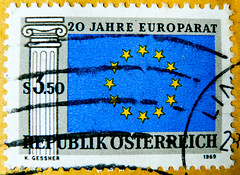 great stamp Austria öS 3,50 (20th anniversary of Council of Europe,  Europarat, Conseil de l'Europe, Consiglio d'Europa, Európa Tanács, 欧洲委员会, Vijeće Europe, Europeiska rådet, Европейский совет, El consejo europeo, Rada Europejska) postage timbre Autriche (stampolina, thx for sending stamps! :)) Tags: councilofeurope europarat conseildel'europe consigliodeuropa európatanács 欧洲委员会 vijećeeurope europeiskarådet европейскийсовет elconsejoeuropeo radaeuropejska österreich austria autriche 奥地利 østrig oostenrijk itävalta αυστρία ऑस्ट्रिया ausztria オーストリア 오스트리아 østerrike австрия аустрија rakúsko rakousko avstrija österrike ออสเตรีย avusturya austrija austurríki stamps znaczkówpocztowych selyo poštovéznámky stamp 切手 briefmarke briefmarken スタンプ postzegel zegel zegels марки टिकटों แสตมป์ znaczki 우표 frimærker frimärken frimerker европа europa europe 欧洲 stars blue blau sterne bleu étoiles