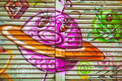 Kenny Made You a Painting Again (Thomas Hawk) Tags: america kennyscharf manhattan nyc newyork newyorkcity usa unitedstates unitedstatesofamerica graffiti fav10