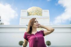 Secession, Innere Stadt, Wien (KarlOplustil) Tags: model modell beautiful portrait porträt wien vienna vienne österreich austria autriche summer sommer secession innerestadt gustavklimt klimt architektur architecture