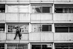 When I'm cleaning windows (www.chriskench.photography) Tags: france street bw chriskench fujifilm xt2 chriskenchphotography copyright candid travel buildings architecture monochrome paris europe cities blackandwhite puteaux hautsdeseine fr