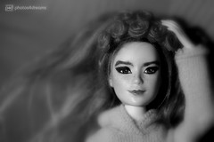 björk b/w (photos4dreams) Tags: photos4dreams p4d photos4dreamz barbie doll lea asian dress mattel toy barbies girl play fashion fashionistas outfit kleider mode björk singer songwriter ooak canoneos5dmark3 handpainted celebrity björkdoll 16 diy