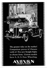 1932 Auburn Convertible Cabriolet & Phaeton Sedan (aldenjewell) Tags: 1932 auburn convertible cabriolet phaeton sedan ad