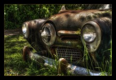 Silently Rusting (* Gemini-6 *) Tags: studebaker chrome rust patina decay abandoned hdr framed diagonal automobile vehicle transportation shadows