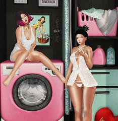 #971 (Aghata Darkwatch (Blogger)) Tags: candykitten ck kitty lingerie astralia uber laundry evie gift groupgift free decor pink