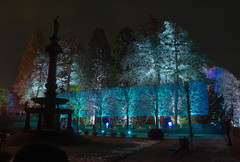 Schloss Drachenburg (ulrike.heck) Tags: ulrikeheck deutschland germany europa europe nachtaufnahme langzeitbelichtung nightshot baum tree dunkel night rot red türkis blau blue