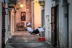 Italian break time (alexhaeusler) Tags: light people street italy break