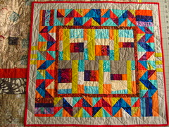 'Uneven Thirds' II small improv quilt by Janie 2019 (crazyvictoriana) Tags: improv quilt blocks cotton colorful quilted kona modern design medallion