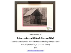 "Tobacco Barn at Historic Maxwell Hall • <a style=""font-size:0.8em;"" href=""http://www.flickr.com/photos/124378531@N04/47052356232/"" target=""_blank"">View on Flickr</a>"