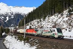 1116 130 + 1144 028, G 54597. Mallnitz-Nord (M. Kolenig) Tags: 1116 1144 rca schnee berg baum tauernbahn
