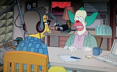 2019 Krusty the Clown meets Marc Maron 1973 (Brechtbug) Tags: 2019 krusty clown meets marc maron the simpsons animation movie theater springfield tv show portraits portrait screen grab screengrab simpson matt groening fox nyc cartoon character yellow figures family television comedy funny doh d oh episode 30th season february 021719 wtf podcast