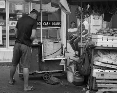 Preparation (Beegee49) Tags: street man food preparation cart people sleeping blackandwhite happy planet luminar sony a6000 bacolod city philippines asia monochrome bw