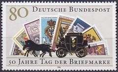 Deutsche Briefmarken (micky the pixel) Tags: briefmarke stamp ephemera deutschland bundespost tagderbriefmarke postkutsche