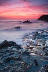 Crystal Cove Sunset (Chris Skopec) Tags: california coastal pacificocean usa beach castatepark crystalcove lagunabeach landscapephotography landscapes nw rocks sand statepark sunset water waves