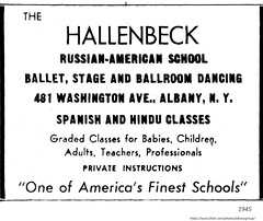 1945 Hallenbeck school of Dance 481 Washington ave. (albany group archive) Tags: 1940s old albany ny vintage photos picture photo photograph history historic historical