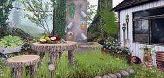 snap367 (Ella SL) Tags: home garden fountain wooden secondlife boardwalk adorablystrangewares kkhome theoldworld chezmoi