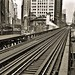 Sixth Avenue El, Manhattan, at 33rd Street. View looking north from northbound platform, undated [c. 1937-1941].---------------------------