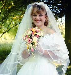 Radiant Bride (vintage ladies) Tags: 80s 80swedding 80sstyle 80sbride portrait people photograph photo 80slady 80swoman woman lady lovely wedding weddingdress bride bouquet sunshine female smile smiling beauty sexy eoshe
