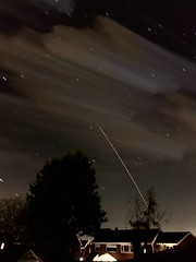 International Space Station 25.03.19  20:52 (Andy Stones) Tags: internationalspacestation space spaceflight spacecraft speed stars orion orbit movement motion lighttrail sunlit reflection rising manmade manned astronauts nasa esa earthandspace longexposure clouds