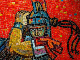 Roman soldier in tiles