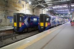 Scotrail 385 108 + 385 015 Edinburgh Waverley (daveymills37886) Tags: 385 108 015 edinburgh waverley scotrail class emu hitachi rail