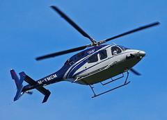 M-YMCM Bell 429 (SteveDHall) Tags: aircraft airport aviation airfield aerodrome helicopter horseracing aintreeracecourse aintree grandnational 2019 generalaviation ga b429 bell bell429 mymcm tjmorris homebargains