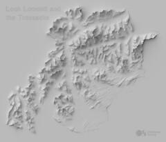Loch Lomond and the Trossachs National Park hillshade (Ordnance Survey) Tags: ordnancesurvey data visualisation dataviz datavis great britain national parks cairngorms loch lomond northumberland lake district yorkshire peak snowdonia broads brecon beacons pembrokeshire dartmoor exmoor new forest south downs hillshade cartography