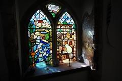 stained glass in St Andrews Church, Timsbury - explored (quietpurplehaze07) Tags: windowwednesdays stainedglass window church standrewschurch reflections explored