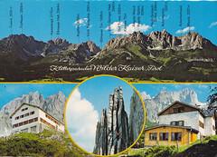 Postkarte / Österreich (micky the pixel) Tags: postkarte postcard ephemera österreich austria kaisergebirge alpen ostalpen gebirge mountains wilderkaiser tirol bundeslandtirol