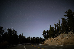 Starry Road (pboolkah) Tags: canon canon5d canon5dmkiv colorado stars astro road trees