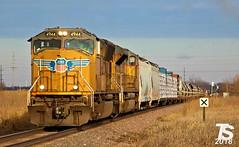 UP 4944 Leads SB Manifest near Iowa Falls, IA 12-24-18 (KansasScanner) Tags: iowafalls iowa up csx fire fd train railroad