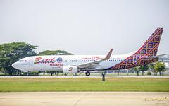 Malindo Air 9M-LCK Boeing 737-800 (Kan_Rattaphol) Tags: malindoair aircraft airplane airlines boeing b737 b737800 9mlck dmk vtbd lionair