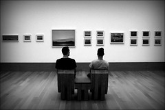 the art of rest (bostankorkulugu) Tags: ago artgalleryofontario ontario canada toronto frames pictures art artwork museum gallery visitors seat guys men