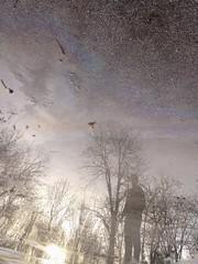 IMG_20190203_183758 (Kocaa_009) Tags: mirror water nature oil asphalt tree reflection sky cloud me sun sunshine