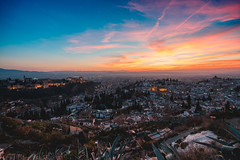 Granada (CROMEO) Tags: granada alhambra sunset colors sunrise clouds sky city ciudad zaidin andalucia españa spain cromeo photography capture cr view sony alpha a7rii landscape world trip