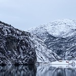 Mostraumen in a wintry Osterfjord thumbnail