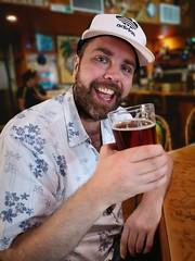 Last Pint (Toni Kaarttinen) Tags: usa unitedstates florida wpb america lakeworth lw palmbeachcounty man guy beard bear selfie hairy scruff pint beer smile adidas