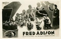 Fred Adison en exclusivite sur disques Gramophone (bunky's pickle) Tags: music musicians jazz france soundrecordings 78rpm advertisingpostcards postcards 1935 popularmusic phonographs liveperformance nipper adisonfred lavoixdesonmaître saxophones trombones pianos guitars basses