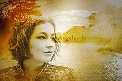 Angelus beatitudinis (gotan-da) Tags: model modelo female femme frau woman compositing digital art texture