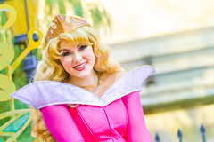 Aurora (EatThisLight) Tags: disney disneyland themepark california ca parade soundsational magic smile girl color lovely princess disneyprincess royalty fantasy aurora sleepingbeauty beauty character facecharacter disneycharacter