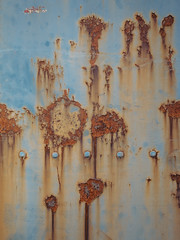 P2250083 (mkreibohm) Tags: street urban dilapidated metal texture rust rusty steel blue decay minimalism minimal pattern olympusomdem1 micro43 microfourthirds abstract bolts