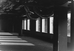 Ducts (TheGraffitiHunters) Tags: nj new jersey street photography photo walks urban enviroment ghetto bando abandoned building sunlight air ducts pipes film black white bw ilford hp5