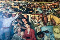 Look closely and you'll find Frida Kahlo (GlobalGoebel) Tags: ciudaddeméxico mexico mx iphone iphoneography iphonex iphone10 mexicocity cdmx nationalpalace museum palacionacional diegorivera fridakahlo mural art painting travel travelphotography