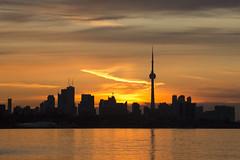 Morning Glow (CJ Burnell) Tags: sun sunrise sunny sunshine sunlight torontoclicks torontophoto torontoguardian torontophotographer skyline silhouette sky clouds buildings reflections the6ix