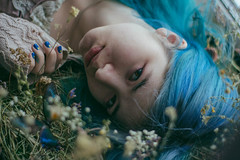 IMG_3022-2 (L.Pheles) Tags: spring flower flowers girl colorhair lue hair blue butterfly