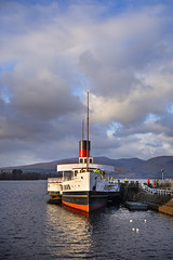 PS 'Maid of the Loch' is safely returned to the pier after the mishap. (Joe Son of the Rock) Tags: loch lochlomond ship boat paddlesteamer maidoftheloch psmaidoftheloch steamer