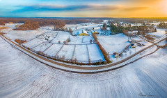 Davidsonville Snow Fields 011819-033 (richandalice) Tags: aerial annapolis davidsonville drone edgewater farm fields snow winter